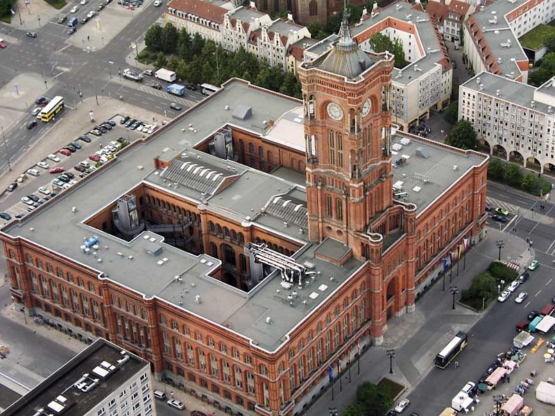"""Town hall """"Rotes Rathaus"""" from TV tower"""