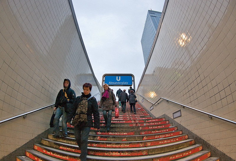 Entrance to subway at Alexanderplatz