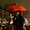 Cameraman with umbrella