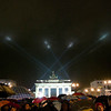 Brandenburg Gate with light beams