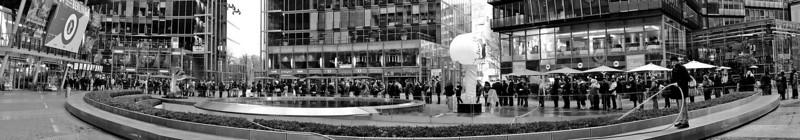 Sony Center: Line for a film festival.