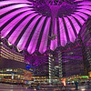 Sony Center at night, Berlin