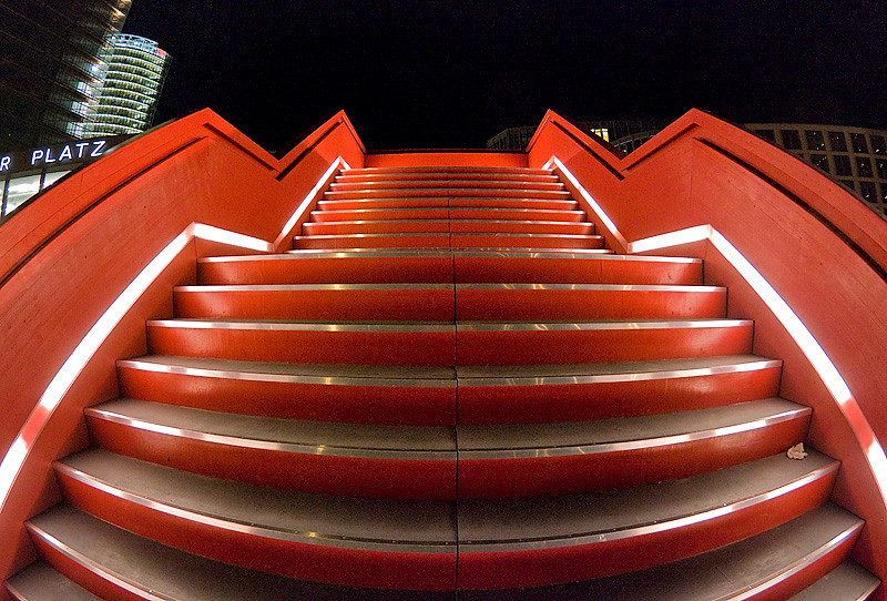 Temporary staircase on Potsdamer Platz