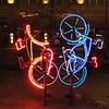 Neon installation near Potsdamer Platz
