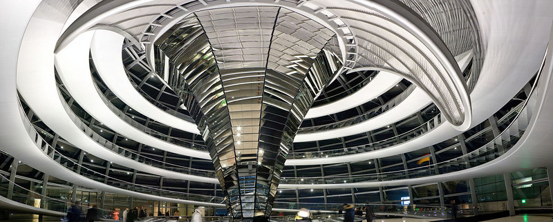 Cupola of the Reichstag at night