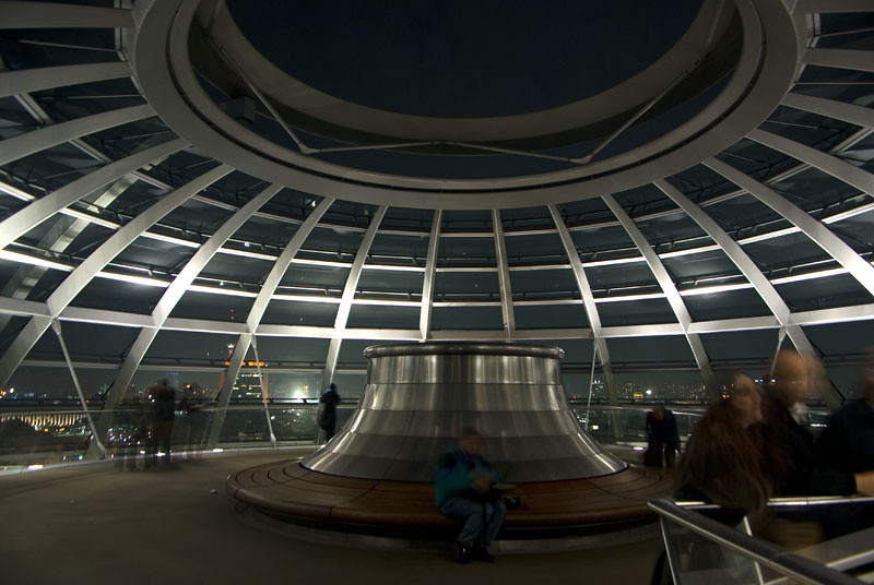 On top of the cupola at night
