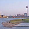 Panorama Duesseldorf, second Rhine bridge