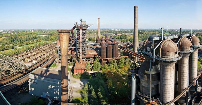 Panorama from blast furnace #5, looking towards #2