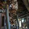Cooling pipes at the blast furnace