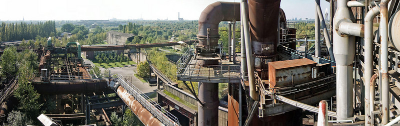 Looking from blast furnace #5