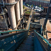 Looking down blast furnace #5
