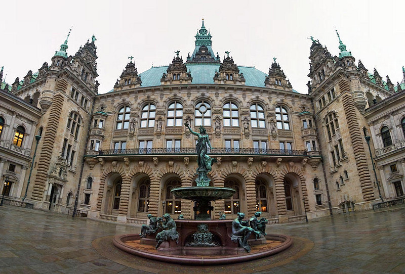 Back side of Hamburg Town Hall