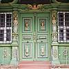 Door of baroque half-timbered house