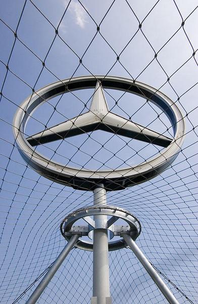 Mercedes sign on central station