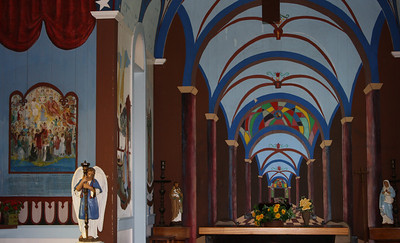 Star of the Sea Painted Church Interior