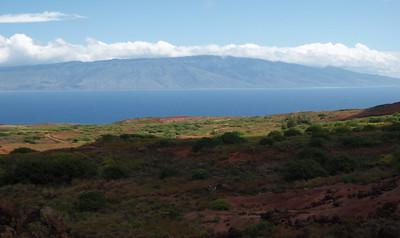 Lana'i Landscape and View of Maui