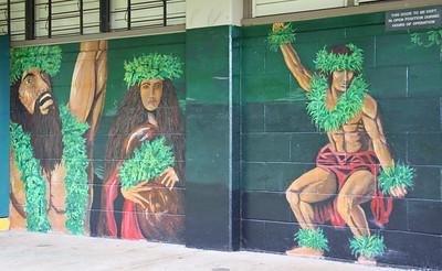 Hula Dancers Mural