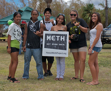 Teens with Anti-Drug Message