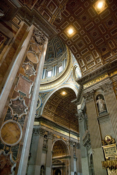 Detail of Inside of St. Peter's Basilica