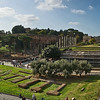 View from the Colosseum towards Arch of  Constantine (right) and Roman Forum (Temple of Venus and Roma, left)