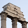 Detail of the ruins of the Temple of Castor and Pollux