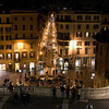 View from Spanish Steps at night