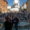 Spanish Steps with tourists