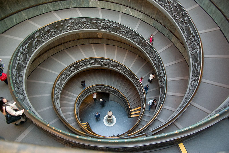Spiral staircase in the Vatican's museums
