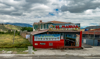 I love this Ecuador street scene which was near a lake we visited. The whole area was full of small restaurants, mostly serving local fish
