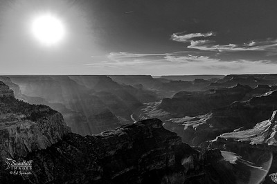 Grand Canyon monochrome, end of day