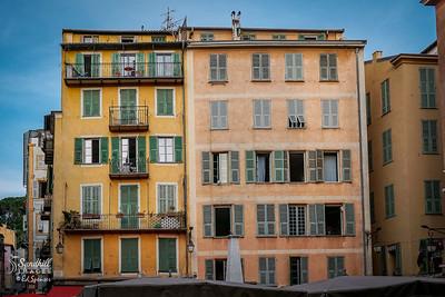 Wonderful apartment buildings in Nice