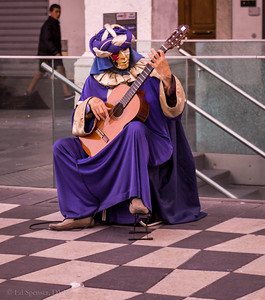 One of the strangest street buskers I've seen