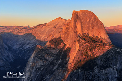 Half Dome In Sunset Colors