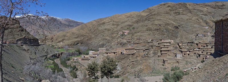 Old village in the Atlas mountains - Route from Ouarzazate to Marrakech