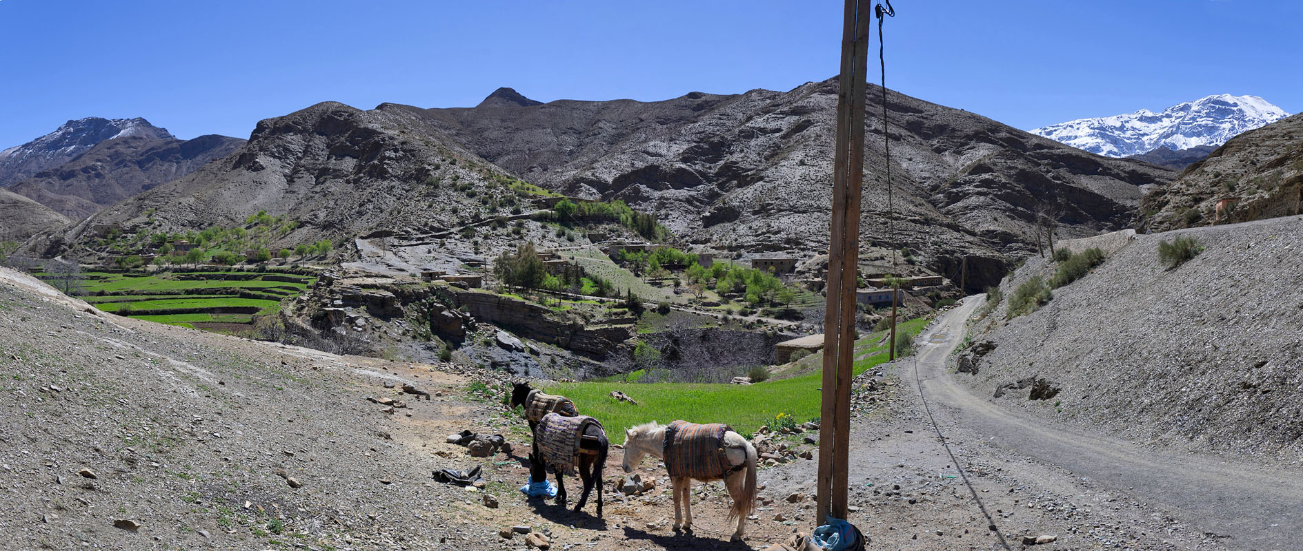 In the Atlas mountains - Route from Ouarzazate to Marrakech
