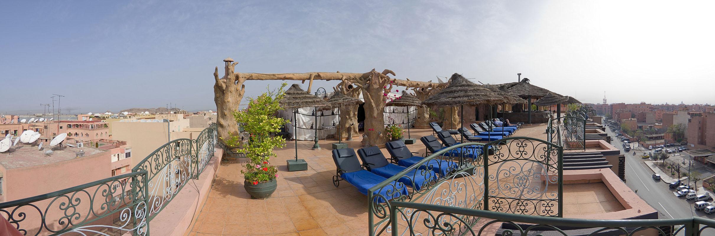 Hotel roof in Marrakech
