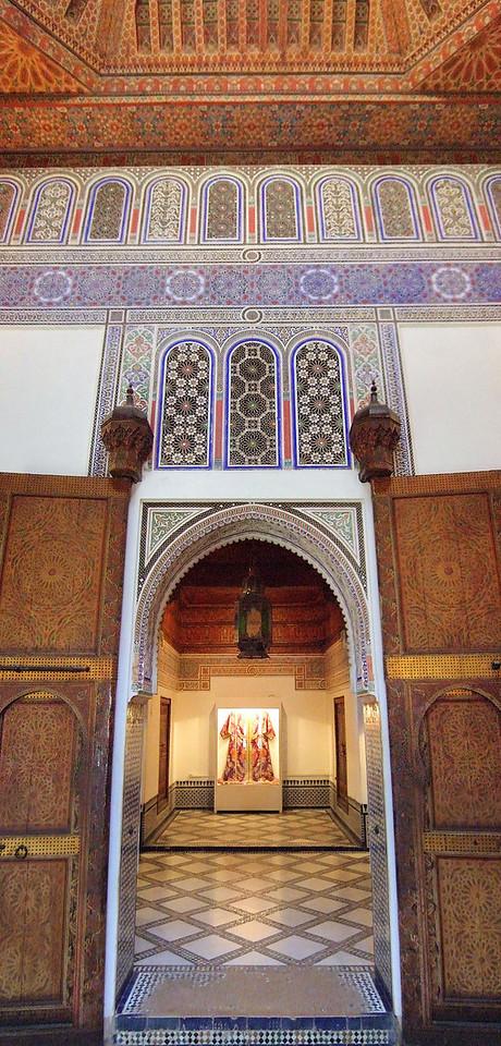 Inside the museum Dar Si Said