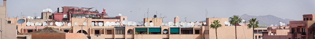 Satellite dishes in Marrakech