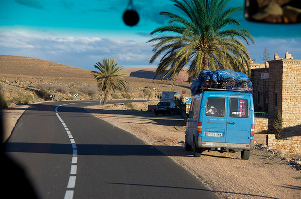 Route N9 from Marrakech to Ouarzazate - crossing the Atlas Mountains