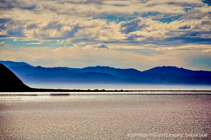 Photo of Hawke's Bay area taken in the morning from our ship.