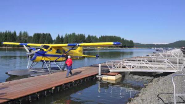 Flying to Pelican, Alaska.