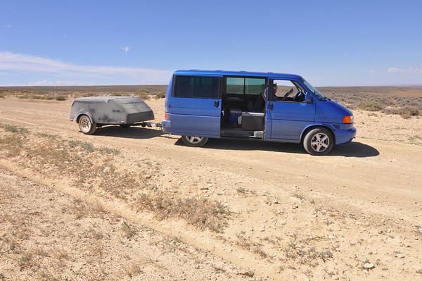 We went on a dusty gravel road looking for wild horses.  We didn't find any horses, but gathered lots of dust!