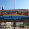 The Blackfeet Reservation is east of Glacier in Montana.
