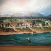 On August 31st, 6 weeks behind schedule, Lewis and his crew finally headed down the Ohio River.  The water was very low and it was slow going.  When the made it to Cincinnati, the crew was worn out, so they rested there for a week.  Cincinnati,1804<br /> <br /> This photo is a painting of Cincinnati done in 1804. It was in the Lewis and Clark Interpretive Center in Great Falls. We didn't get the painter's name.