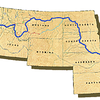 This map shows the basic route out showing present day states. Lewis spent many days on shore walking 10-12 miles usually examining the land, plants, and animals.