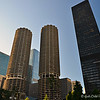 "September 2, 2016<br /> <br /> MARINA CITY<br /> <br /> ""The River between State and Dearborn Streets (1964, 1967)<br /> Architect: Bertrand Goldberg Associates. <br /> <br /> These two 60-story apartment towers were constructed from poured concrete. Pie shaped units with semicircle balconies combine to a total form reminiscent of corn cobs. These buildings were used in the late 1960's to show Chicago's break from tradition and to encourage tourism."" <br /> <br /> ~ Reprinted text from here:<br /> <br /> <a href=""https://www.themagnificentmile.com/neighborhood/architecture/"">https://www.themagnificentmile.com/neighborhood/architecture/</a><br /> <br /> ""Marina City is a mixed-use residential/commercial building complex that occupies an entire city block on State Street in Chicago, Illinois. It sits on the north bank of the Chicago River in downtown Chicago, directly across from the Loop district. The complex consists of two corncob-shaped, 587-foot (179 m), 65-story towers, which include five-story elevators and physical plant penthouses. It also includes a saddle-shaped auditorium building, and a mid-rise hotel building, all contained on a raised platform next to the Chicago River. Beneath the platform, at river level, is a small marina for pleasure craft, giving the structures their name.[1] Designed by Bertrand Goldberg, Marina City was the first building in the United States to be constructed with tower cranes."" ~ Wikipedia<br /> <br /> The Magnificent Mile<br /> North Michigan Avenue<br /> Chicago, IL<br /> <br /> My Homepage:  <a href=""http://www.GodsChild.SmugMug.com"">http://www.GodsChild.SmugMug.com</a>"