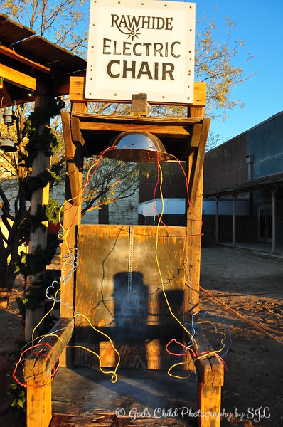 """Electric Chair<br /> <br /> """"RAWHIDE WESTERN TOWN AND STEAKHOUSE""""<br />  Chandler, AZ"""