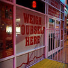 """HEART ATTACK GRILL""<br /> 450 Fremont Street<br /> Las Vegas, NV<br /> <br /> There's a large scale outside the grill for guests to weigh themselves before entering.According to their website, they have waitresses dressed as nurses. <br /> <br /> Glittering lights. Stunning visual and sound effects. Crowds of people.<br /> <br /> Just another night on the Las Vegas Strip, right? Wrong.<br /> <br /> Welcome to the Fremont Street Experience located in fabulous downtown Las Vegas.<br /> <br /> This project blends vintage Las Vegas with high-tech wonder, live entertainment and more to create an attraction that rivals the famed Vegas Strip. It provides an intimate party atmosphere with a laid-back feel and a group of great casinos in close proximity to one another.<br /> <br /> The most obvious and largest part of the Fremont Street Experience is the Viva Vision canopy and light show. The canopy towers 90 feet above the ground and spans the length of five football fields. Featuring more than 12 million LED modules and 555,000-watt sound system, the light show attracts tourists and locals alike.<br /> <br /> FREMONT STREET EXPERIENCE<br /> Fremont Street<br /> Las Vegas, NV"
