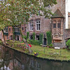 Private garden at a canal