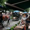 Horse carriages at Simon Stevinplein